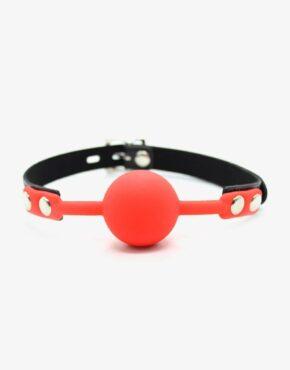 Ball-gag med jelly silikone kugle-0