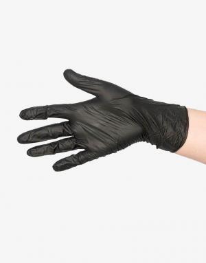 Sorte engangs latex handsker-0