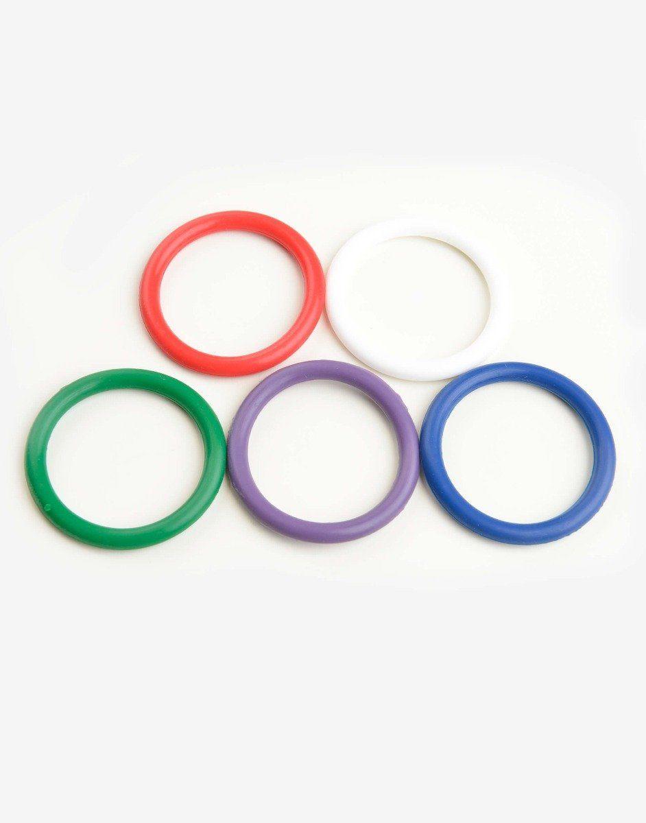 5 stk. Rainbow penisringe-0