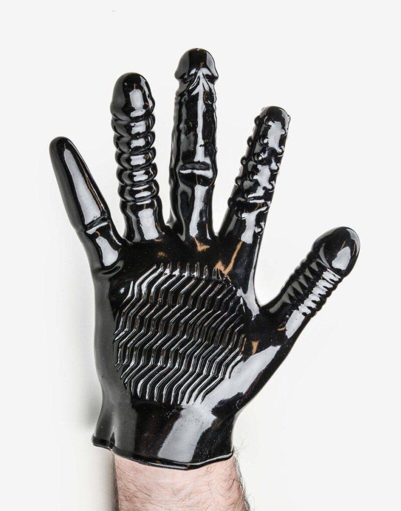 Finger fuck handske med vibrator-0
