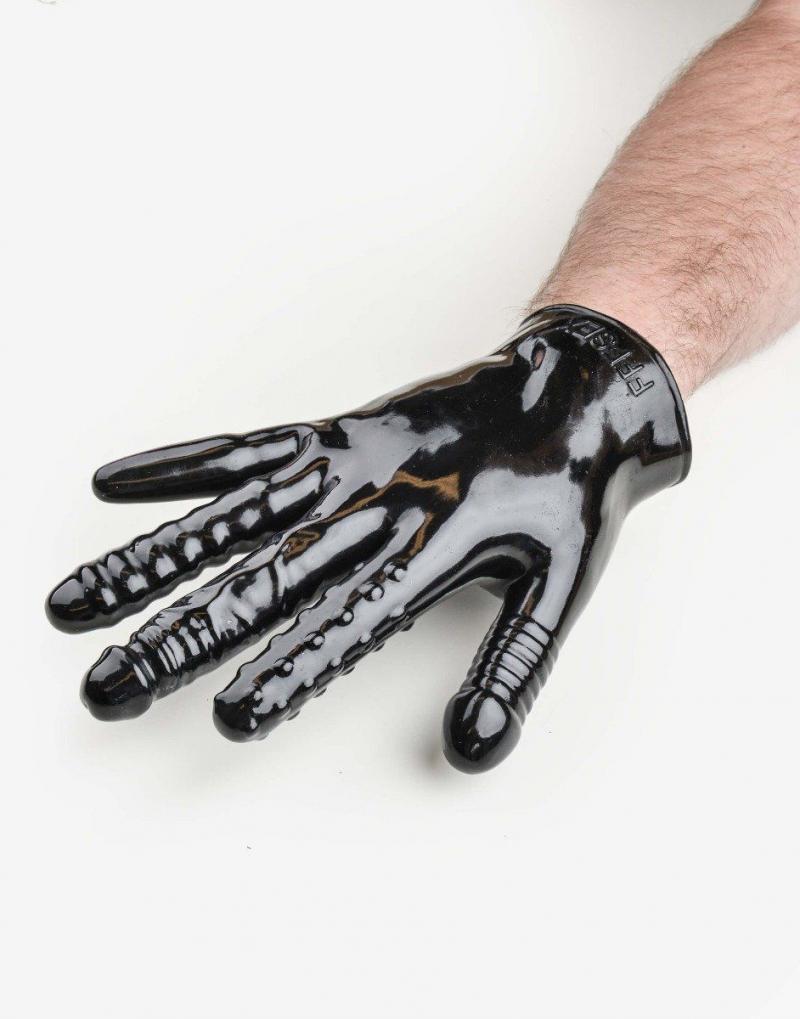 Finger fuck handske med vibrator-1181